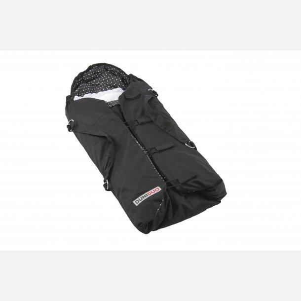 Duniduo Plus, sort for m/hvid og beige. KOMBIPOSE. Lift, Kørepose, Tumletæppe. 6502.