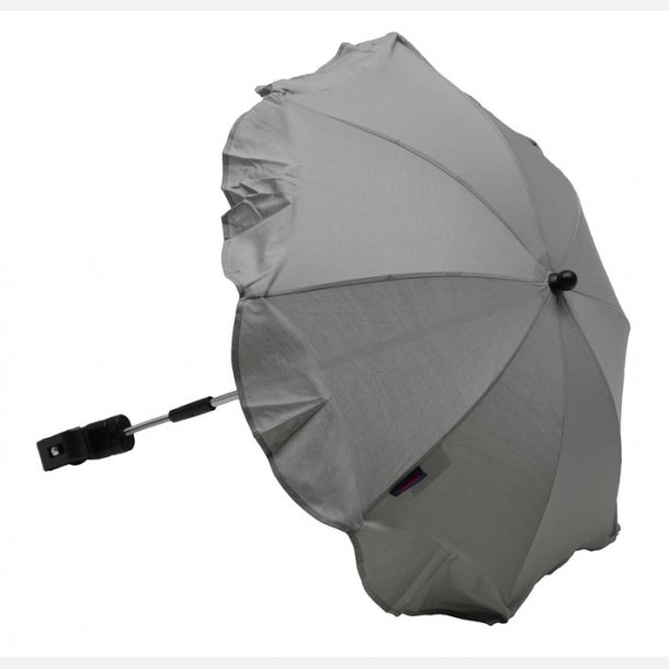 Luksus Parasol Sølvgrå, Ninaclip. !!